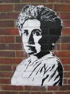 Rosa Luxemburg at Memorial for the Socialists in Berlin Friedrichsfelde.